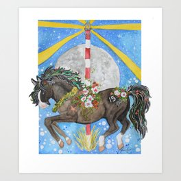 CLG Surfer's Blue Moon Art Print