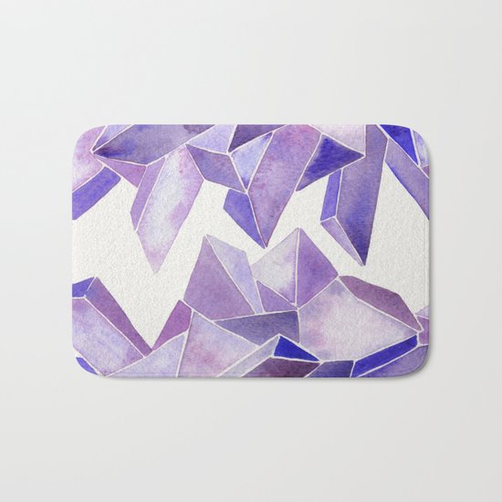 Amethyst Watercolor Bath Mat