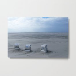 www - beach chairs Metal Print