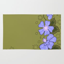 Abstract floral corner with background Rug
