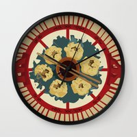 food Wall Clocks featuring Food by Tonz