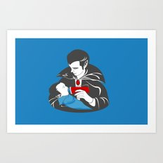 The Curious Case of a Baby Vampire Art Print