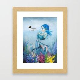 mermaid art, sea, ocean, water, dreamy, sea lovers Framed Art Print