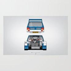 Outline Series N.º7, MG Metro 6R4, 1986 Rug