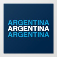 argentina Canvas Prints featuring ARGENTINA by eyesblau