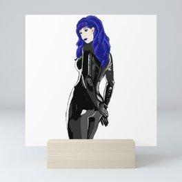 Miss Blue Mini Art Print