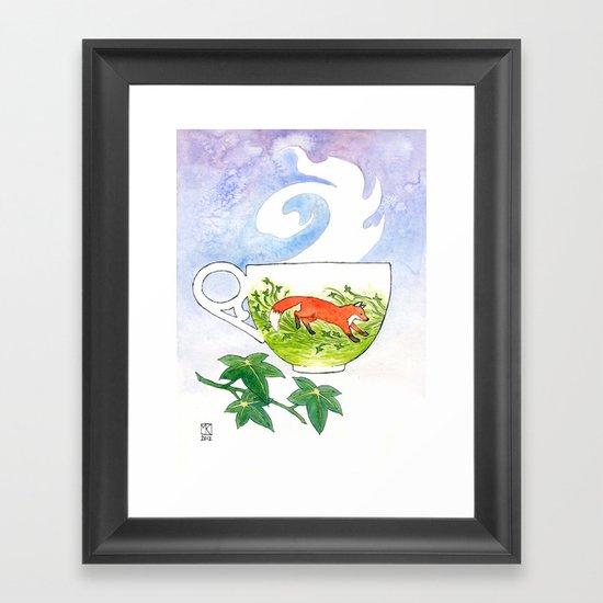 Fox Cup Framed Art Print