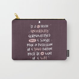 It is a Truth- Pride and Prejudice Carry-All Pouch