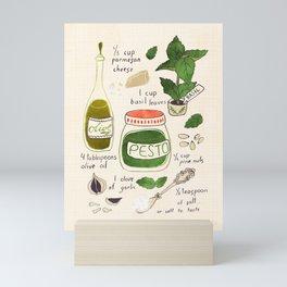 Pesto. Illustrated Recipe. Mini Art Print