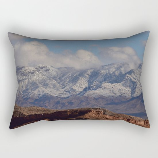 Desert Snow on Christmas - II Rectangular Pillow