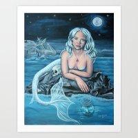 these waters deep Art Print