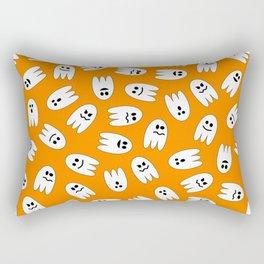 Ghosts Halloween Pattern Rectangular Pillow
