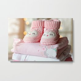 Booties for Baby Girl Metal Print