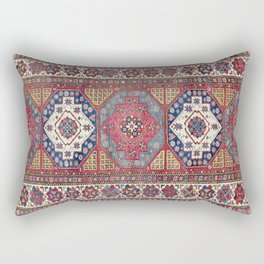 Shahsavan Azerbaijan Antique Tribal Persian Rug Rectangular Pillow