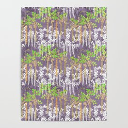 Oriental floral vine pattern Poster