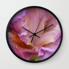 Crested Iris Wall Clock