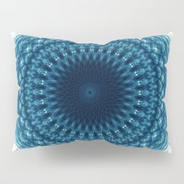 Mandala of Quantum Abundance (blue) Pillow Sham