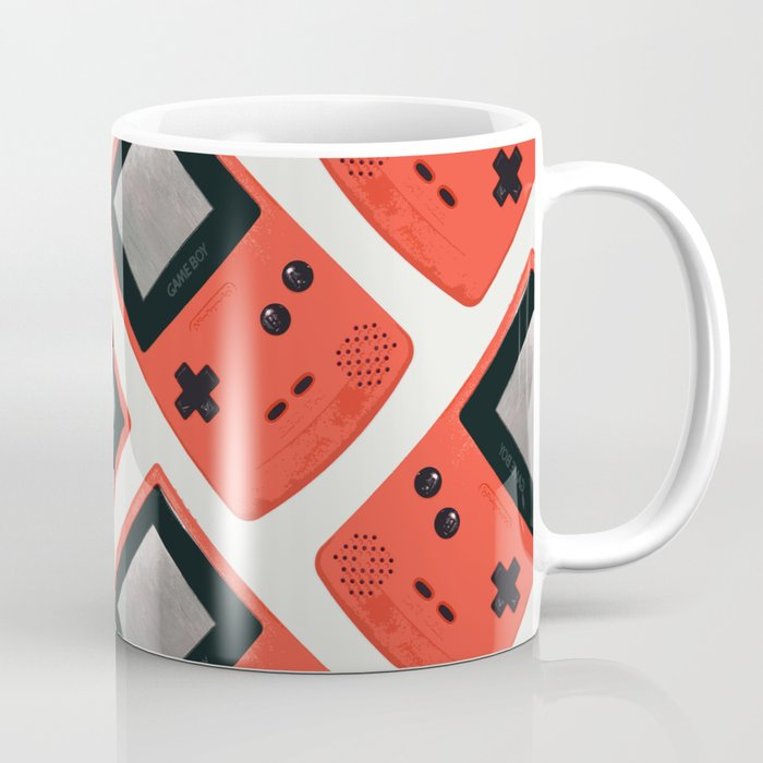 Gameboy Color: Red (Pattern) Coffee Mug