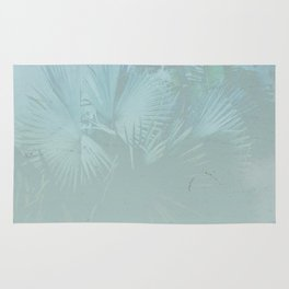Faded Blue Palms Rug