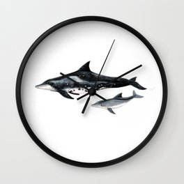 Rough-toothed dolphin (Steno bredanensis) Wall Clock