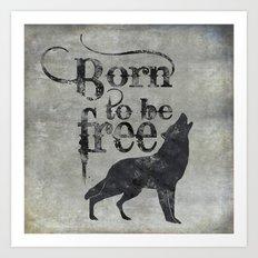 Born to be free Art Print