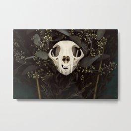 Skull and Bone Metal Print