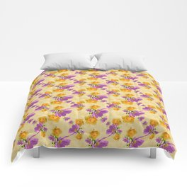 Cosmos and Rose Pattern Comforters