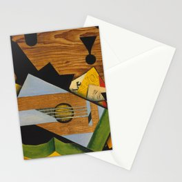 Juan Gris - Still life with a guitar Stationery Cards