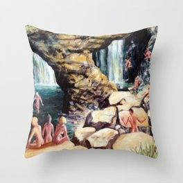 Secret Waterfall               by Kay Lipton Throw Pillow