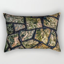 Colorful stainglass pattern Rectangular Pillow