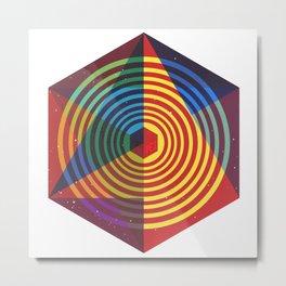 Bee a colorful shape Metal Print