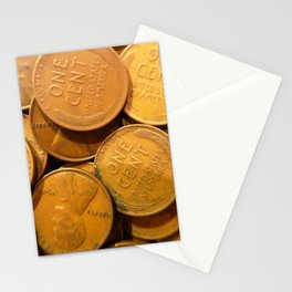 Watercolor Coins, Lincoln Wheat Pennies, 1940 03 Stationery Cards