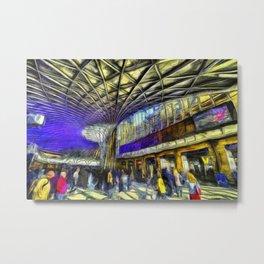 Kings Cross Rail Station Van Gogh Metal Print