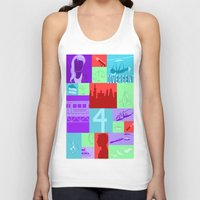divergent Tank Tops featuring Divergent Collage by Anthony M. Sennett