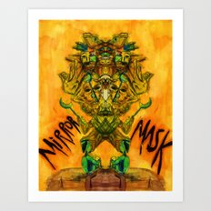 Mirror Mask Art Print