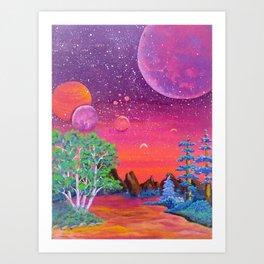 Lake Sorbet Art Print