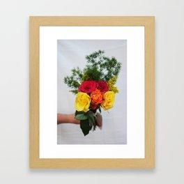 handful of flowers Framed Art Print