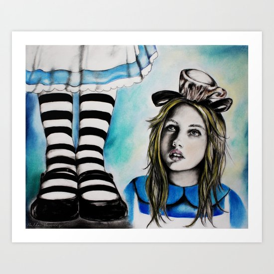 Too Big, Alice Art Print