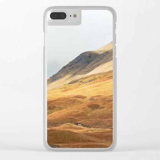 Running to the hills Clear iPhone Case