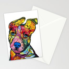 Colourful Pit Bulls, pit bull gift Stationery Cards