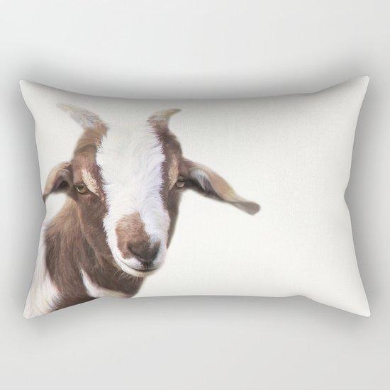Goat Portrait Rectangular Pillow