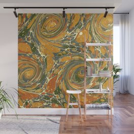 Old Marbled Paper 03 Wall Mural