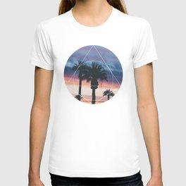 Sunset Palms - Geometric Photography T-shirt