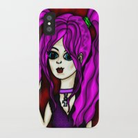 goth iPhone & iPod Cases featuring Goth Girl  by GothicToggs