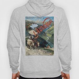 L'Auvergne, French Travel Poster Hoody