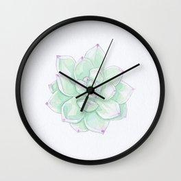 Echeveria Tippy watercolour Wall Clock