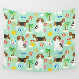 Beagle beach vacation dog breed lover beagles must haves summer gifts Wall Tapestry