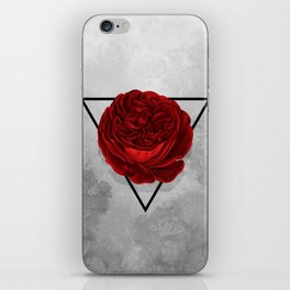 The Rose (white version) iPhone Skin