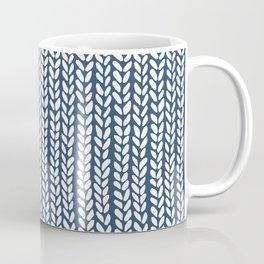 Knit Wave Navy Coffee Mug