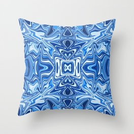 65 - Psychedelic Blues Throw Pillow
